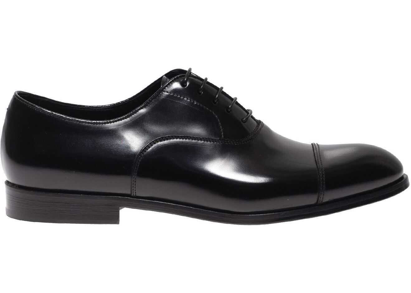 Oxford Shoes In Black Brushed Leather thumbnail