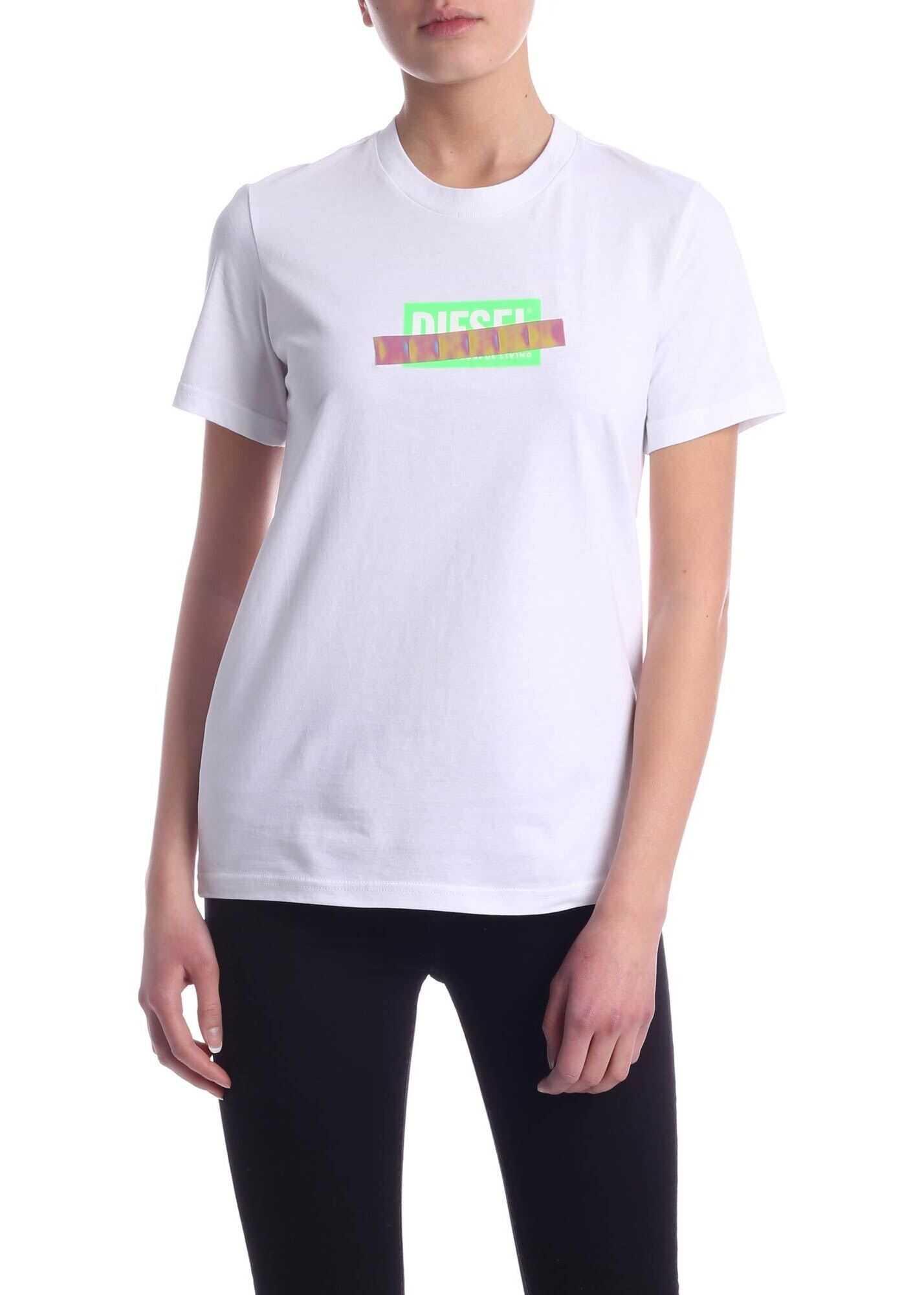 Diesel Sily-S2 T-Shirt In White White