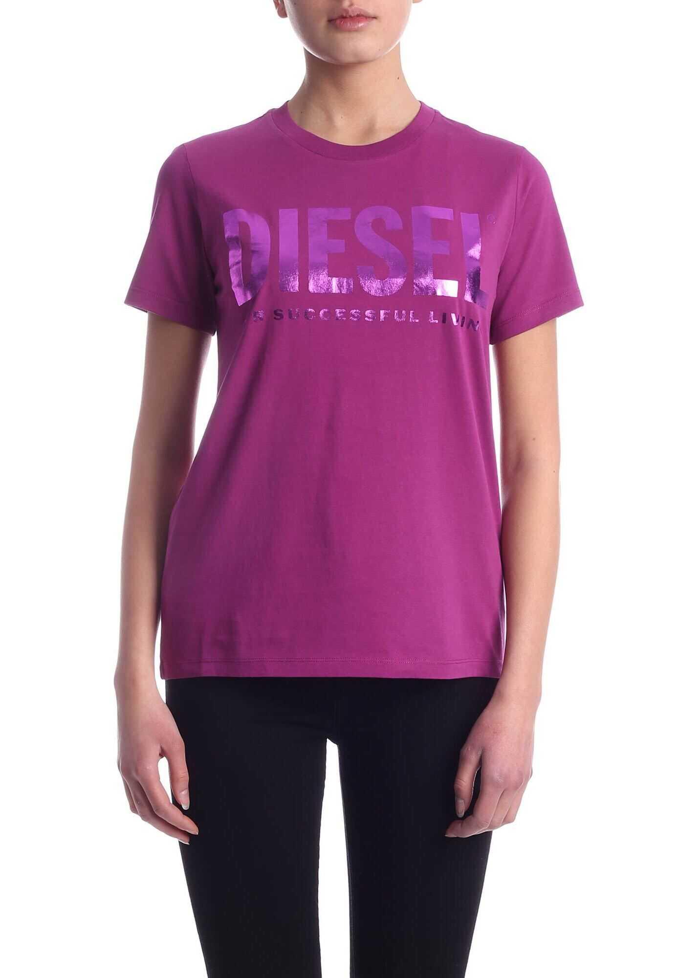 Diesel Sily-Wx T-Shirt In Purple Purple