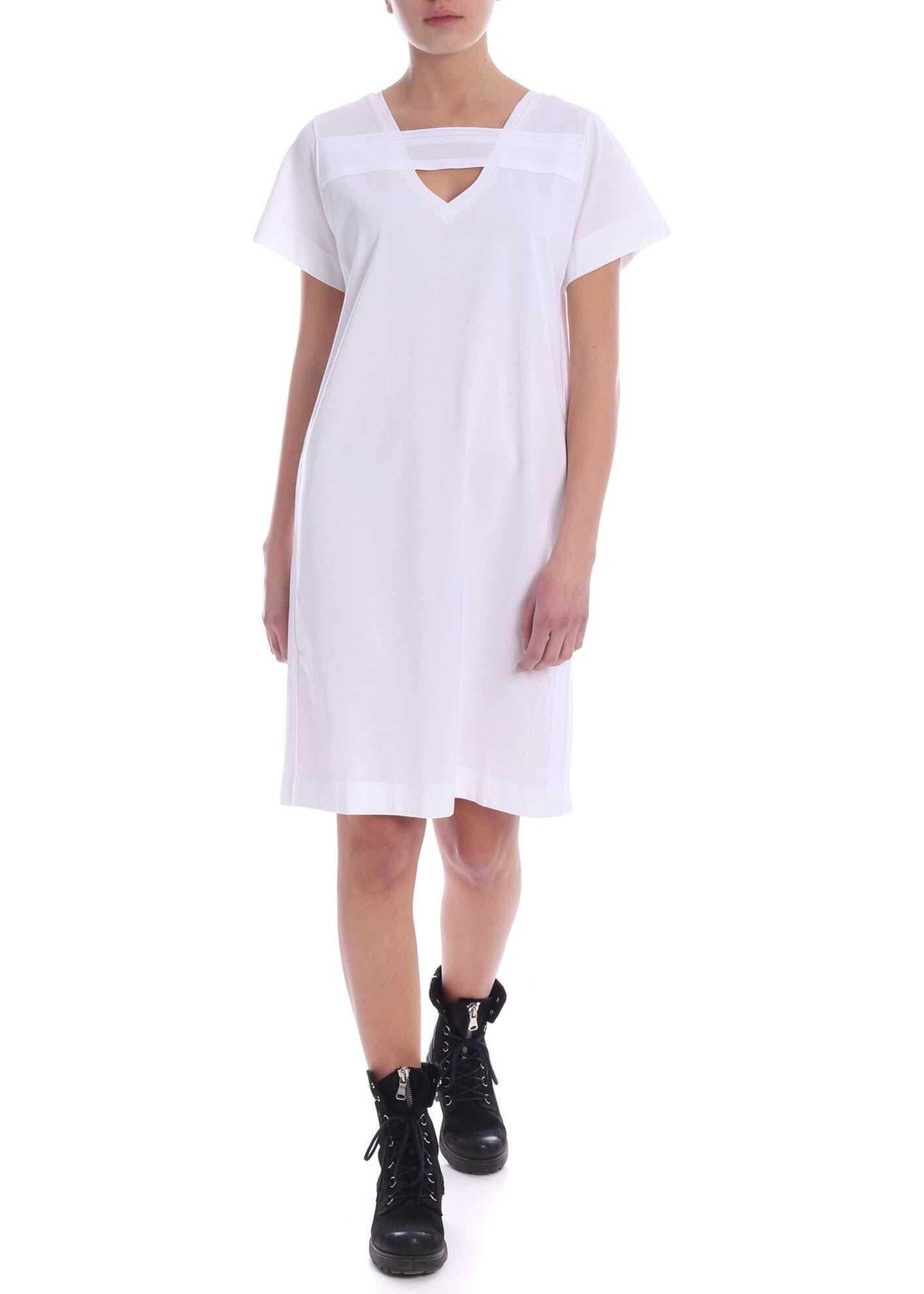 Diesel Stripe Dress In White White