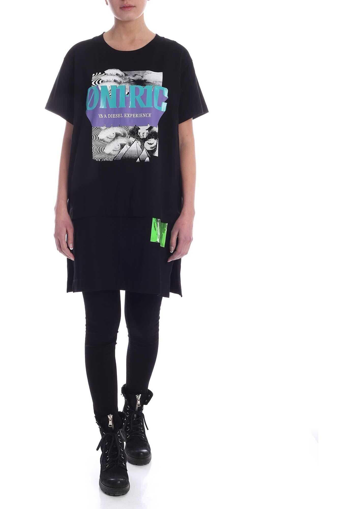Diesel Shalie Dress In Black Black