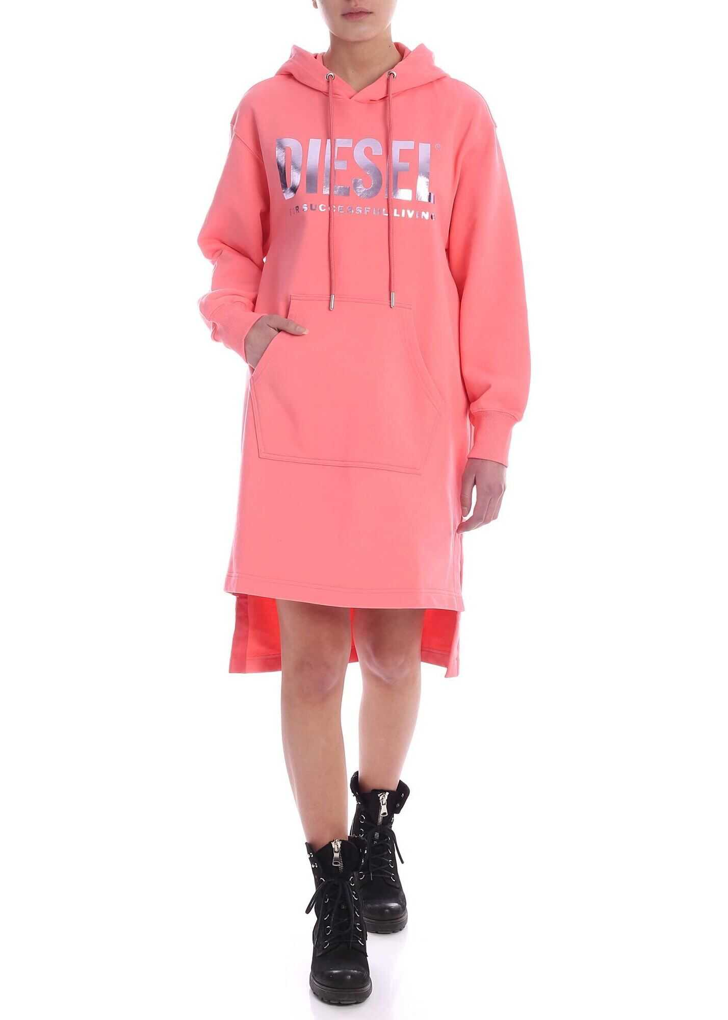 Diesel Ilse-T Dress In Salmon Pink Pink