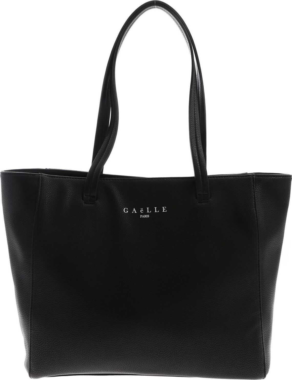 GAëLLE Paris Logo Print Shoulder Bag In Black Black