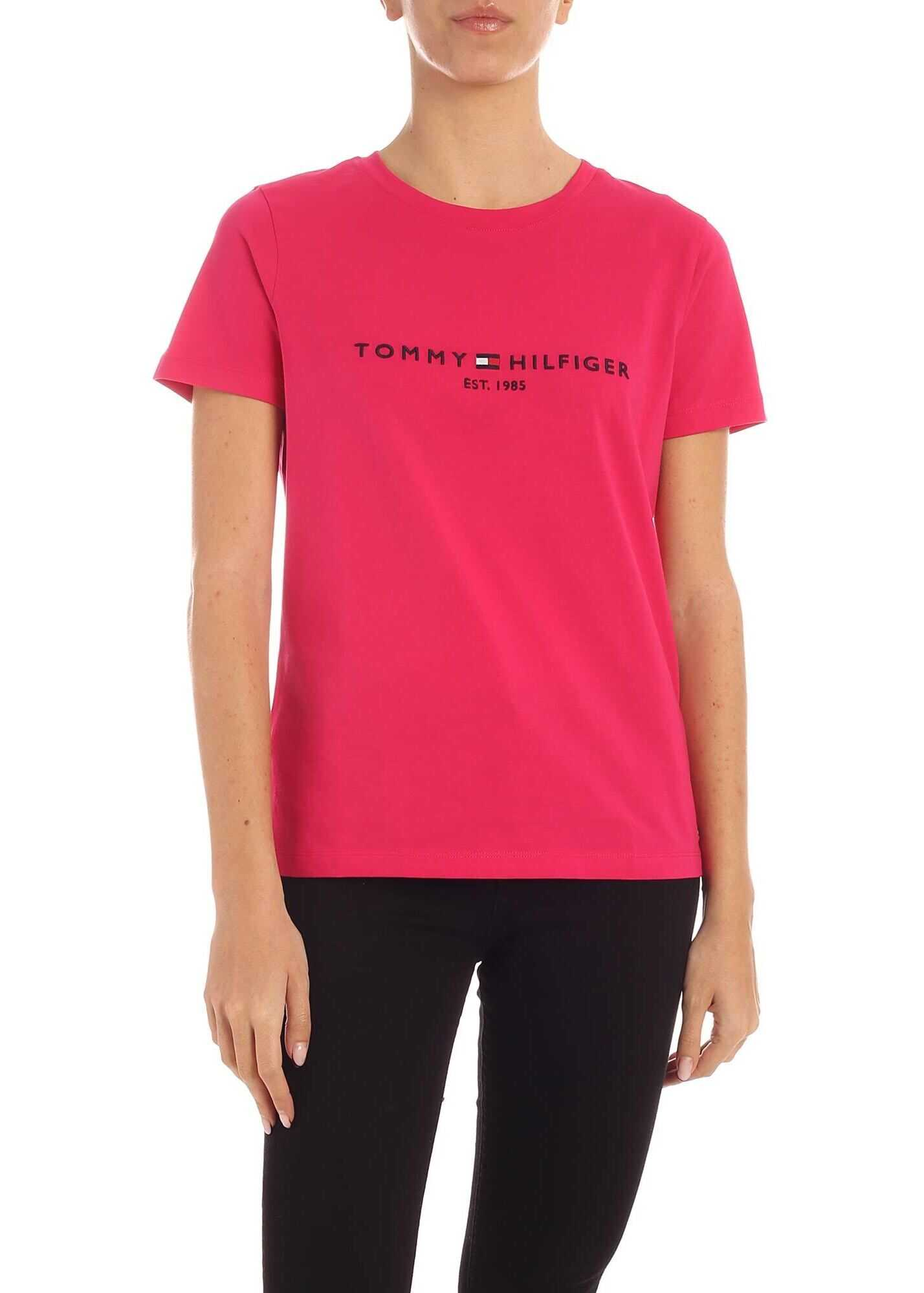 Tommy Hilfiger Bright Jewel T-Shirt In Fuchsia Fuchsia