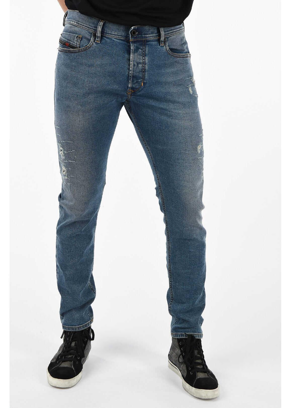 Diesel 17cm Distressed TEPPHAR L.32 Jeans BLUE