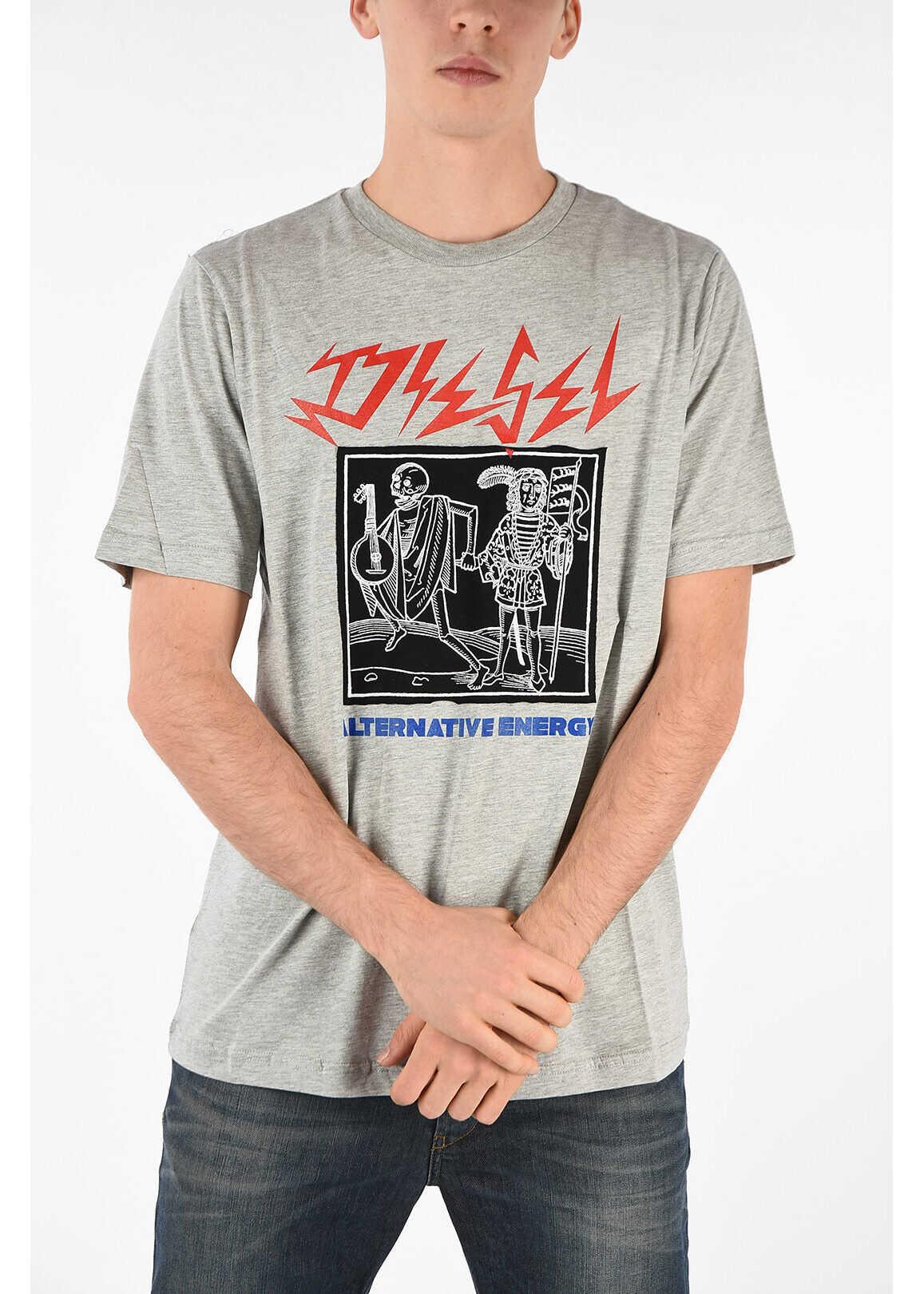 Diesel Printed T-JUST-XP T-shirt GRAY