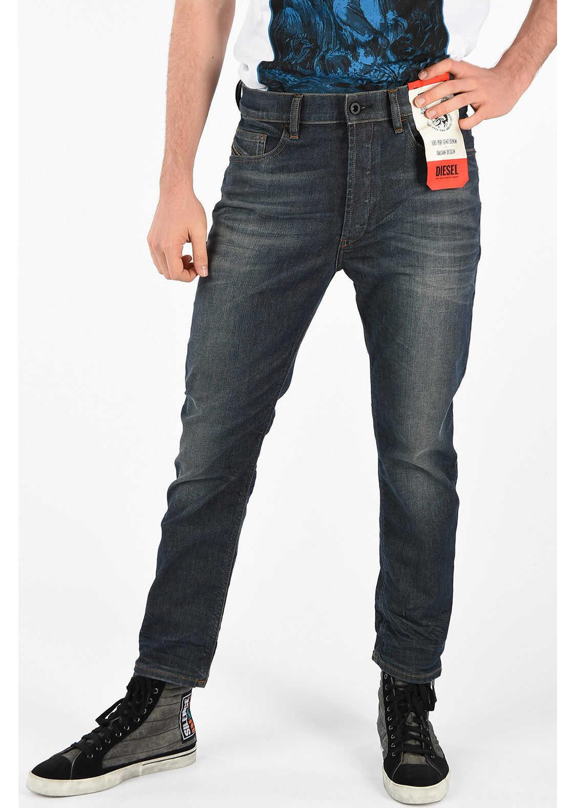 Diesel 17cm Stretch Denim D-EETAR L.32 Jeans BLACK