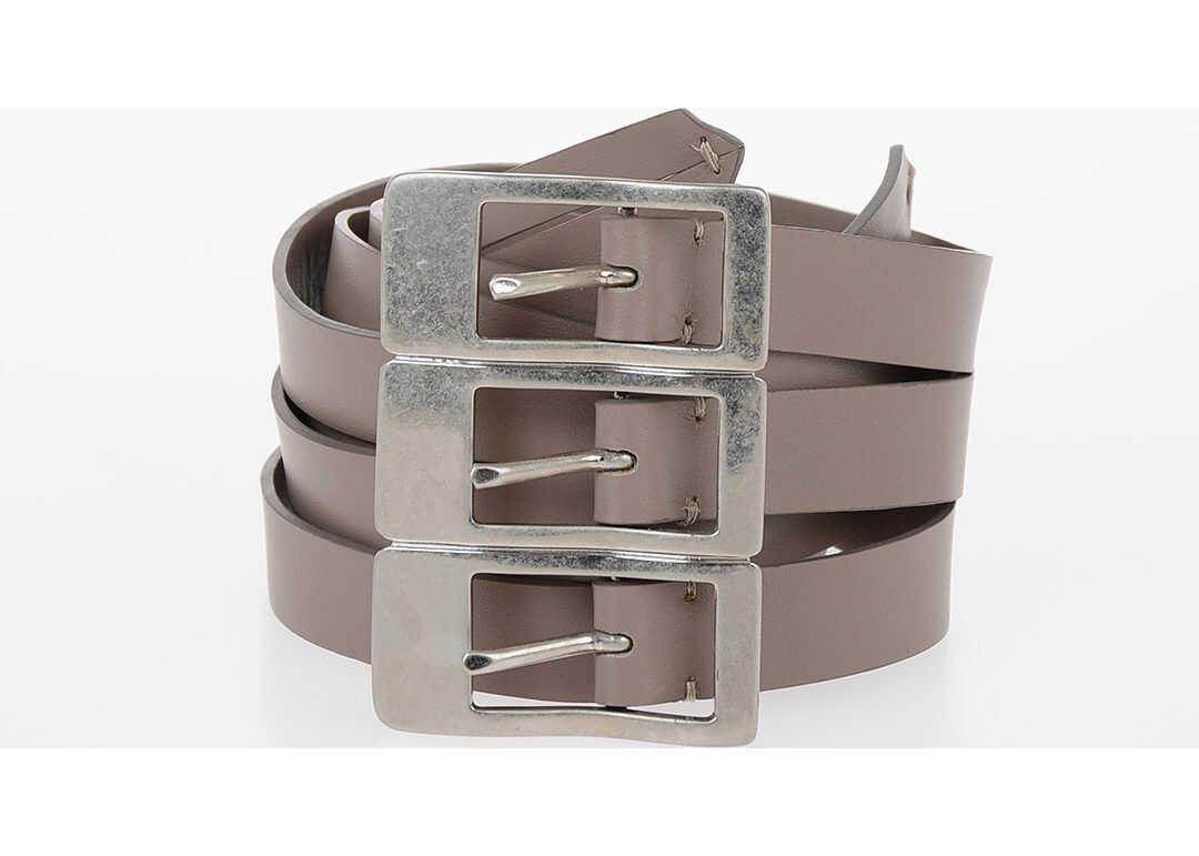 Maison Margiela MM11 60mm Leather Belt BEIGE