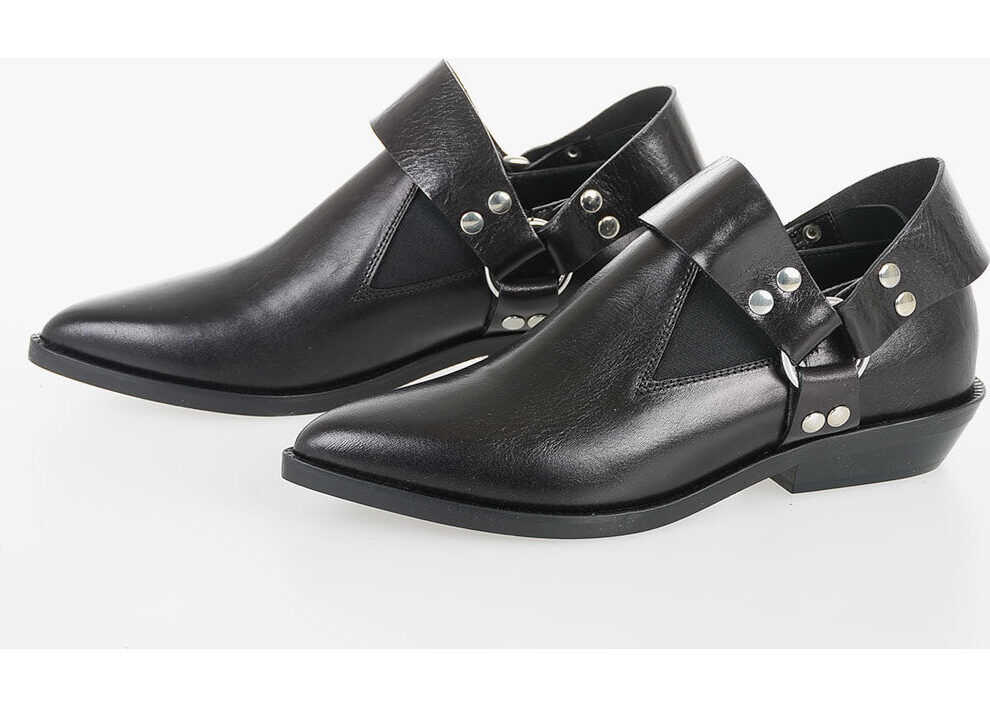 Maison Margiela MM6 Leather Loafer BLACK