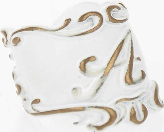 Maison Margiela MM6 Ring with A Effigy WHITE