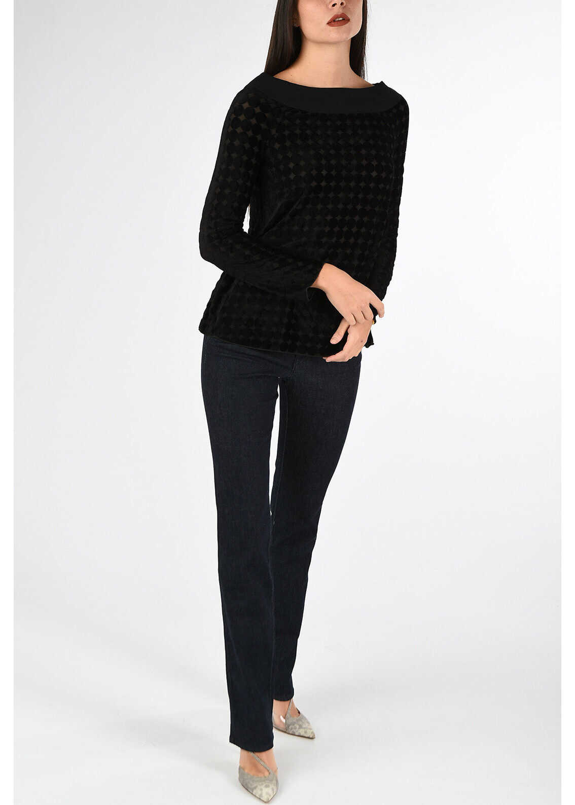 Armani COLLEZIONI Wool and Denim Jeans BLUE
