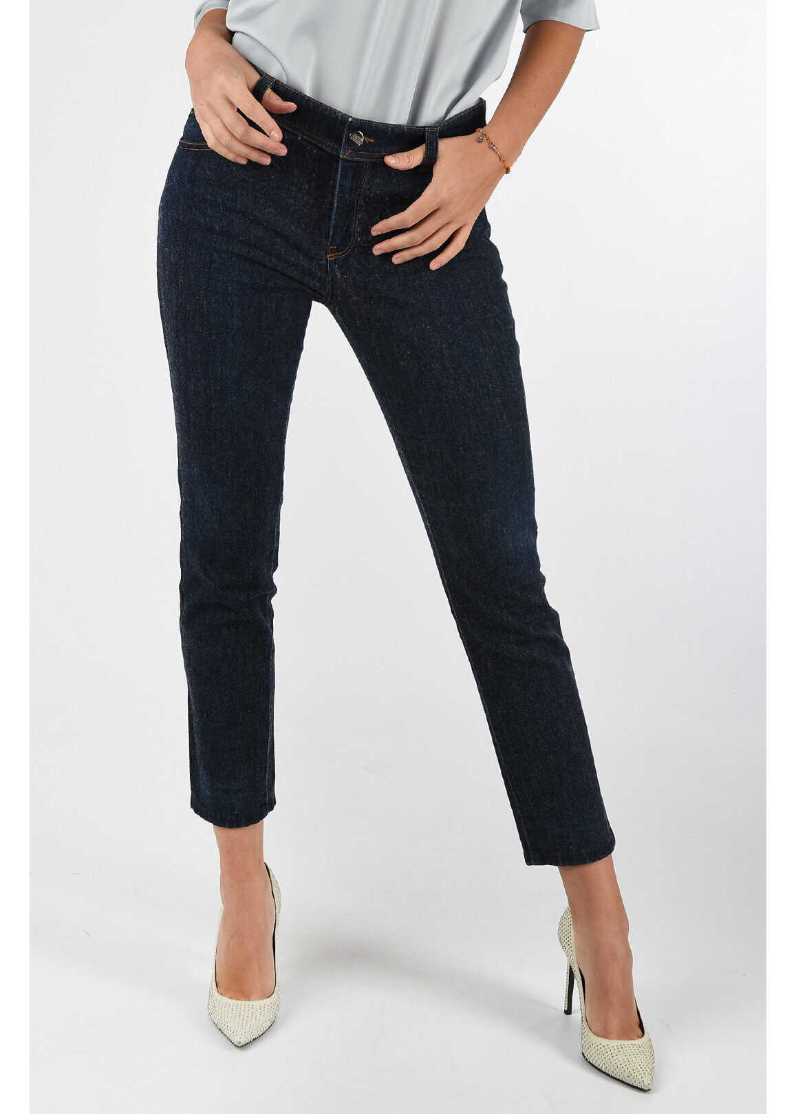 COLLEZIONI Wool and Denim Capri Jeans thumbnail