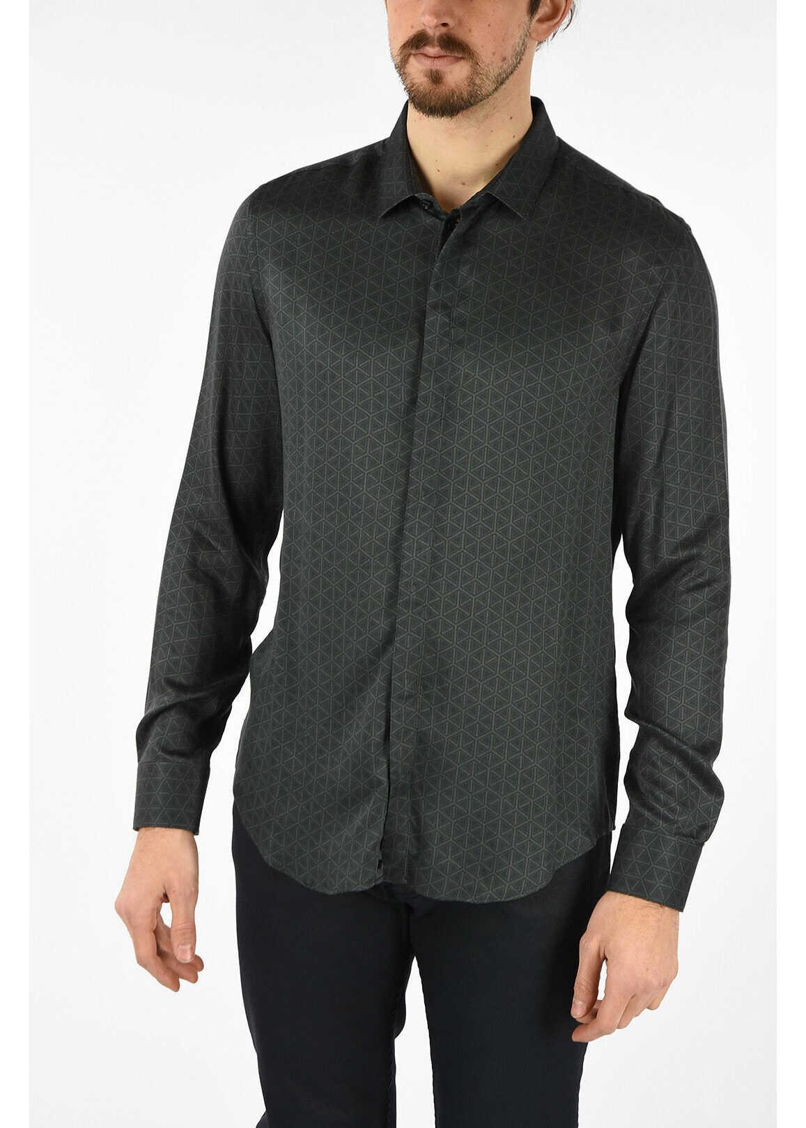 Armani EMPORIO Printed Shirt GRAY