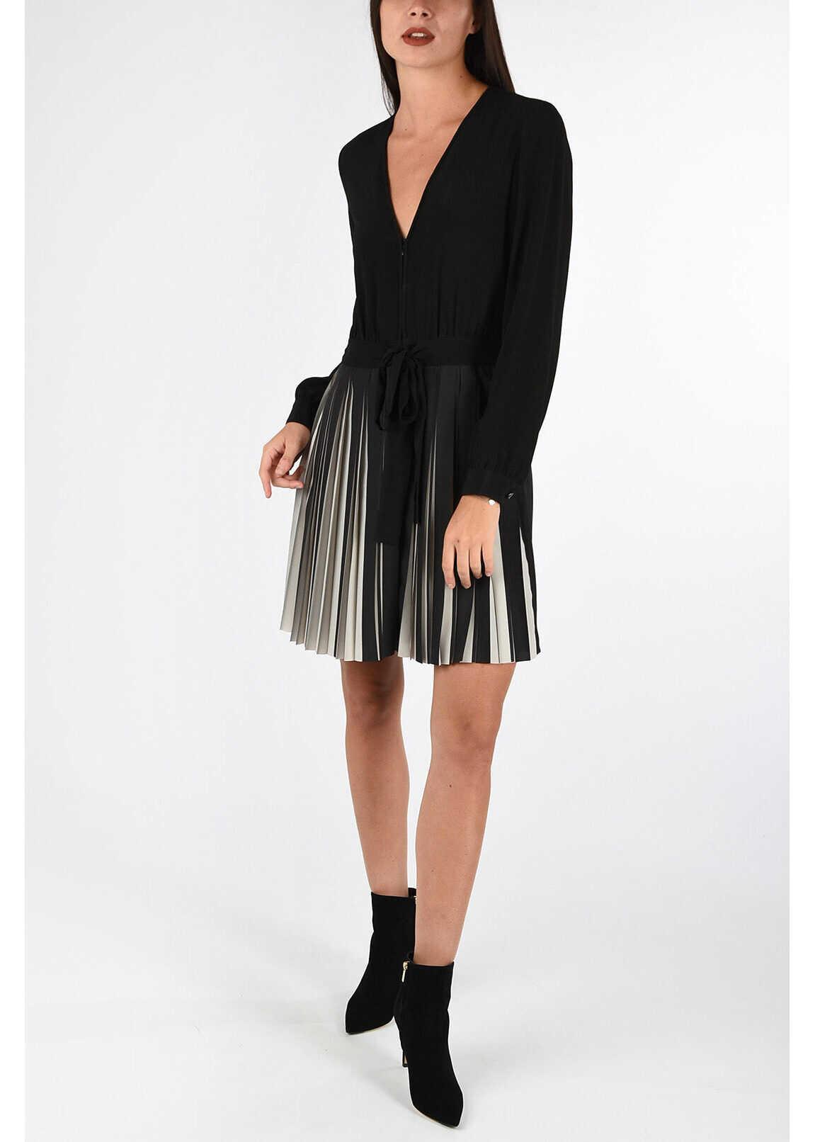 Armani EMPORIO Pleated Dress BLACK