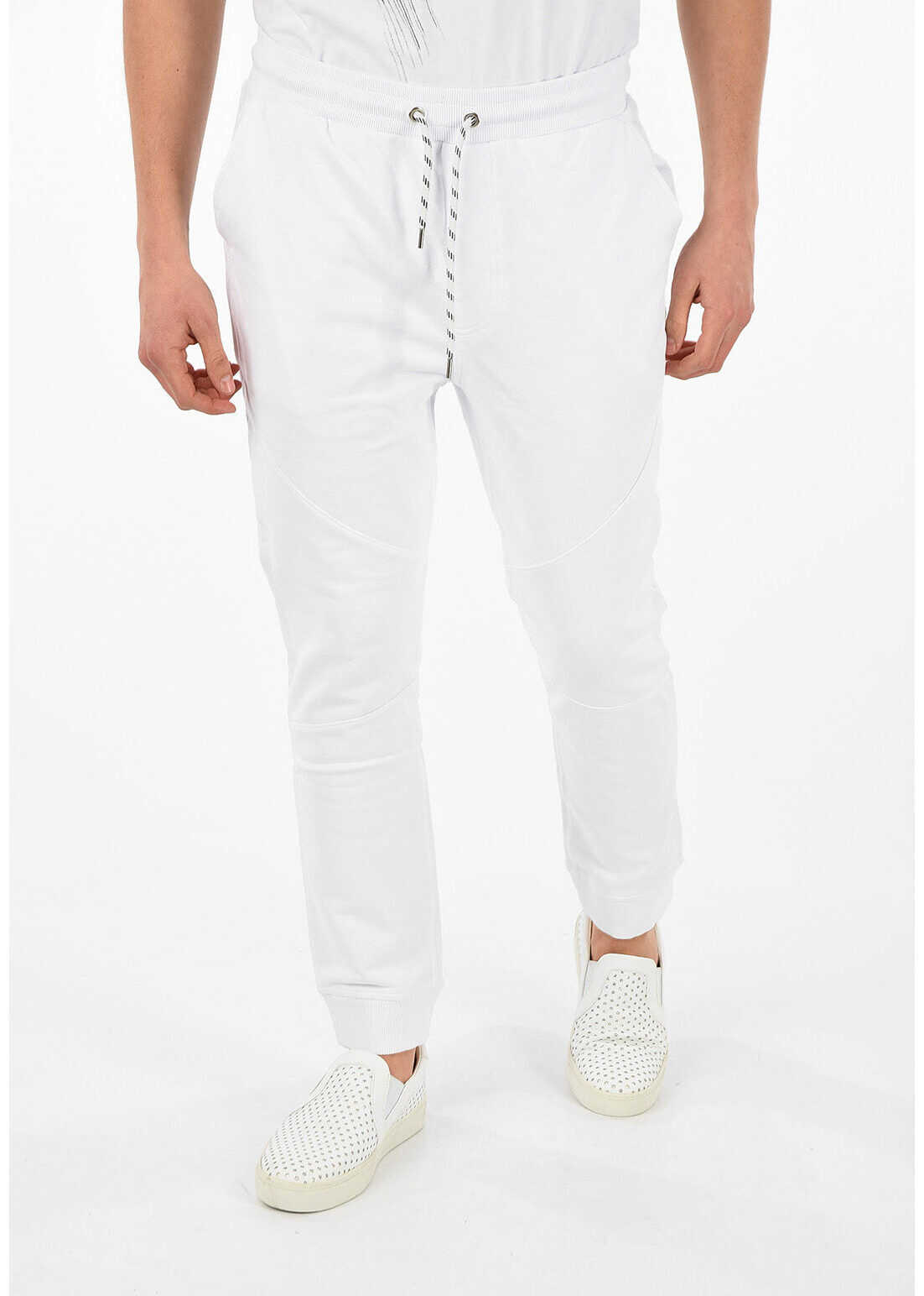 Just Cavalli Joggers with Printed Logo WHITE