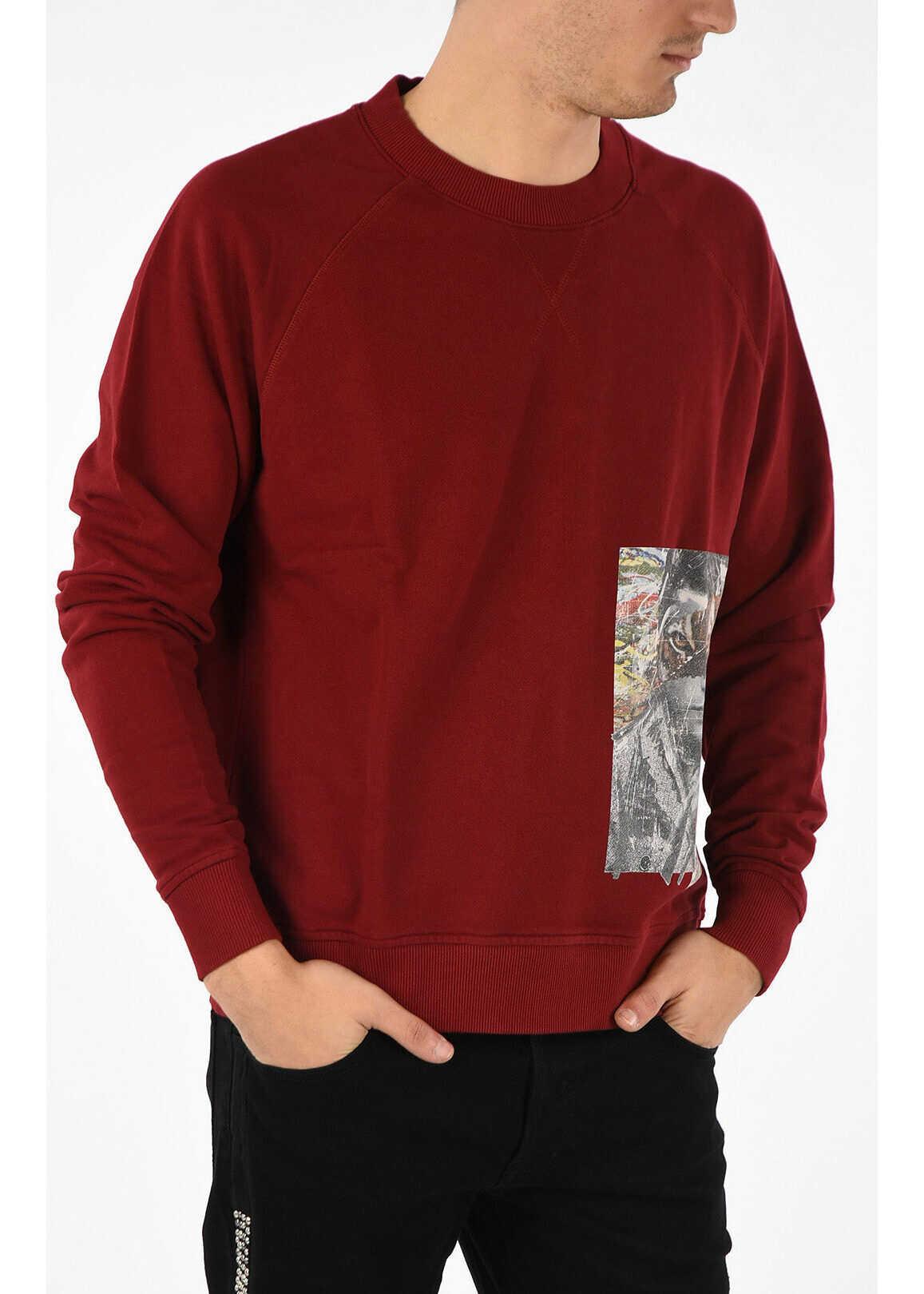 Just Cavalli Printed Crewneck Sweatshirt RED