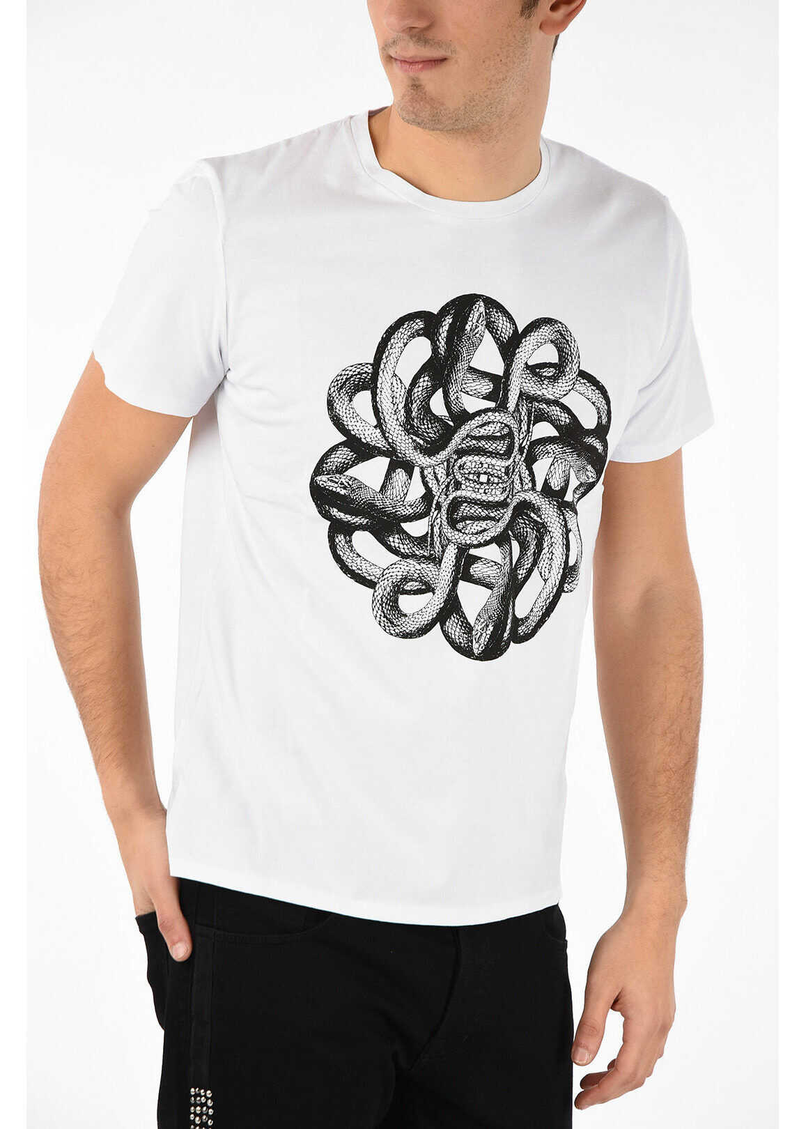 Just Cavalli Printed Crewneck T-shirt WHITE