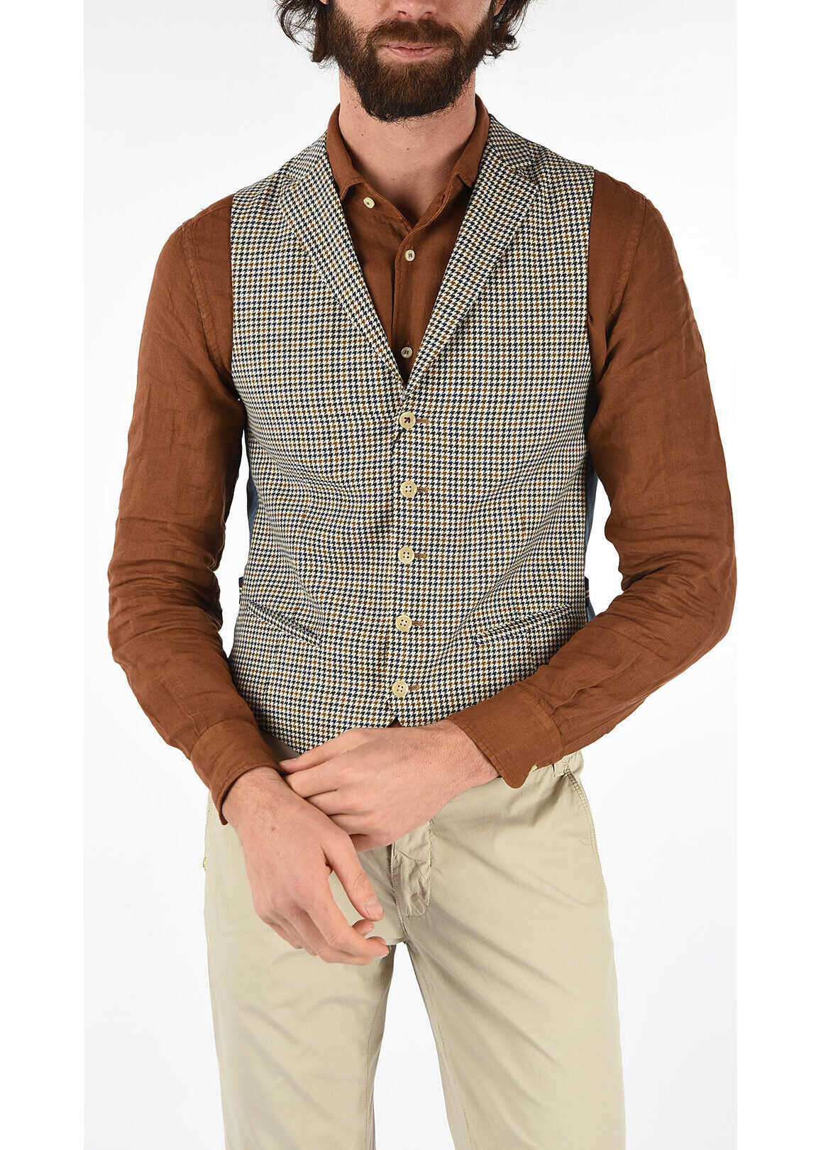 CC COLLECTION virgin wool houndstooth drop 7 r REWARD Gilet thumbnail