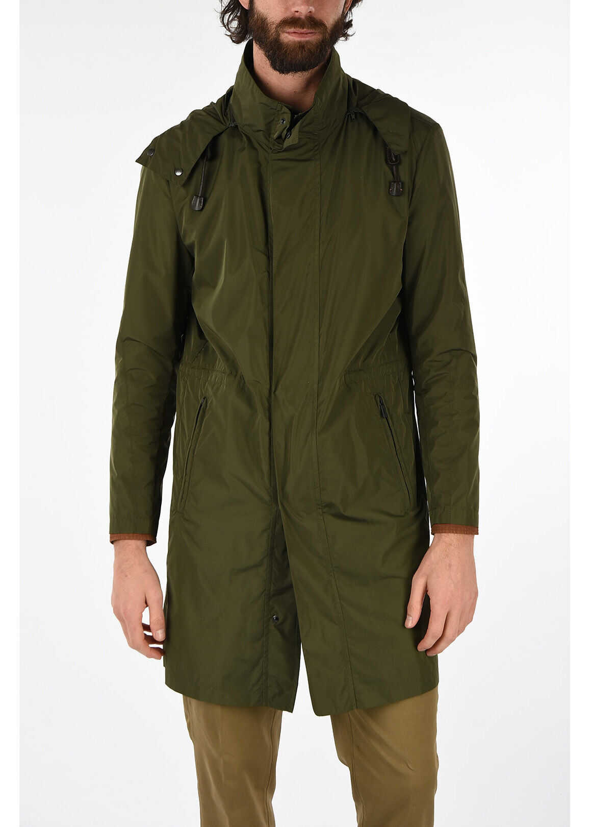 CORNELIANI CC COLLECTION hooded TEOS chesterfield coat GREEN