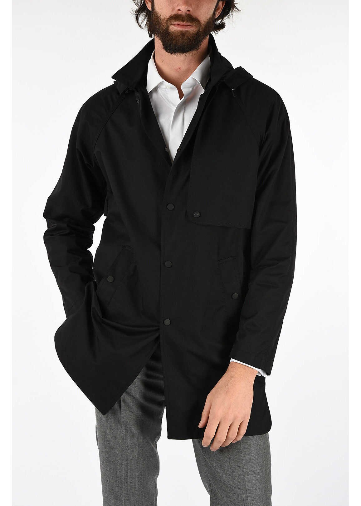 CORNELIANI CC COLLECTION single breasted LEON trench BLACK