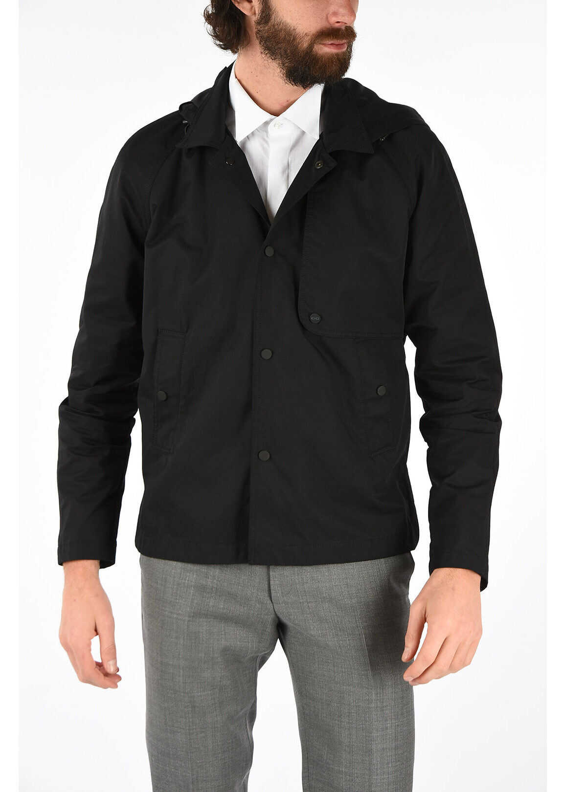 CORNELIANI CC COLLECTION single breasted LEON short trench BLACK