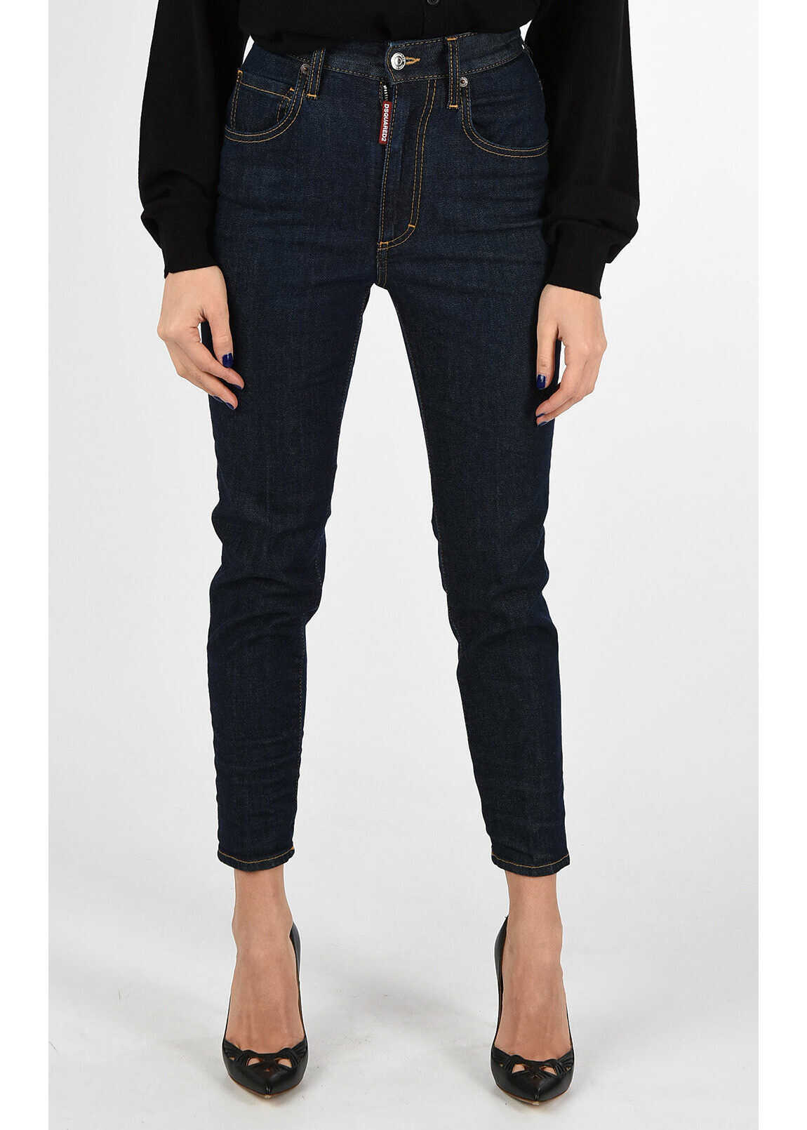 Tapered Jeans HIGH WAIST CROPPED TWIGGY 14 cm thumbnail