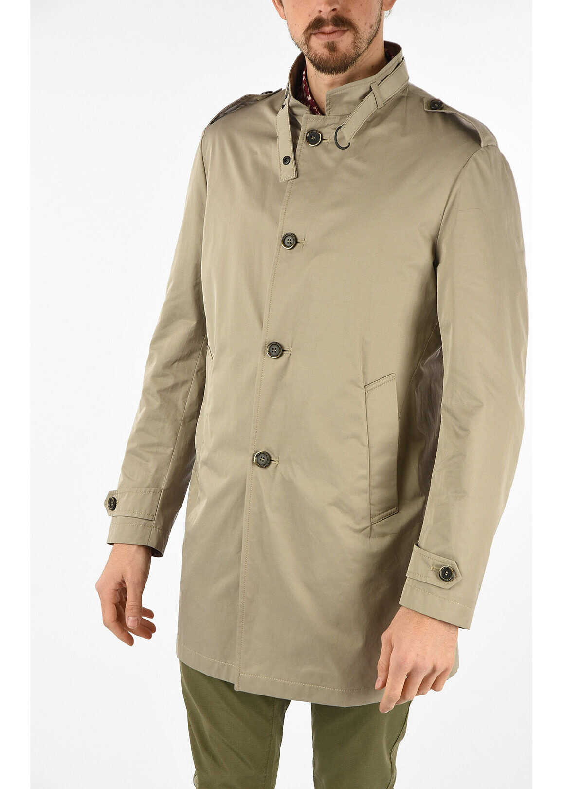CORNELIANI CC COLLECTION single breasted EMPOLI trench BEIGE