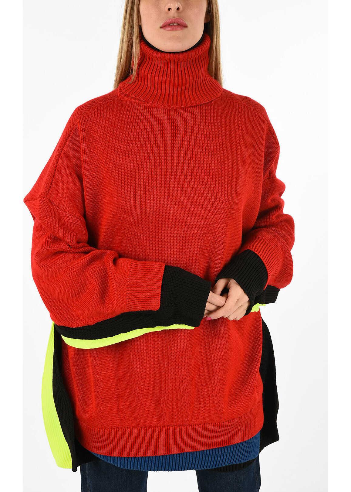 Balenciaga Oversized turtle-neck sweater MULTICOLOR