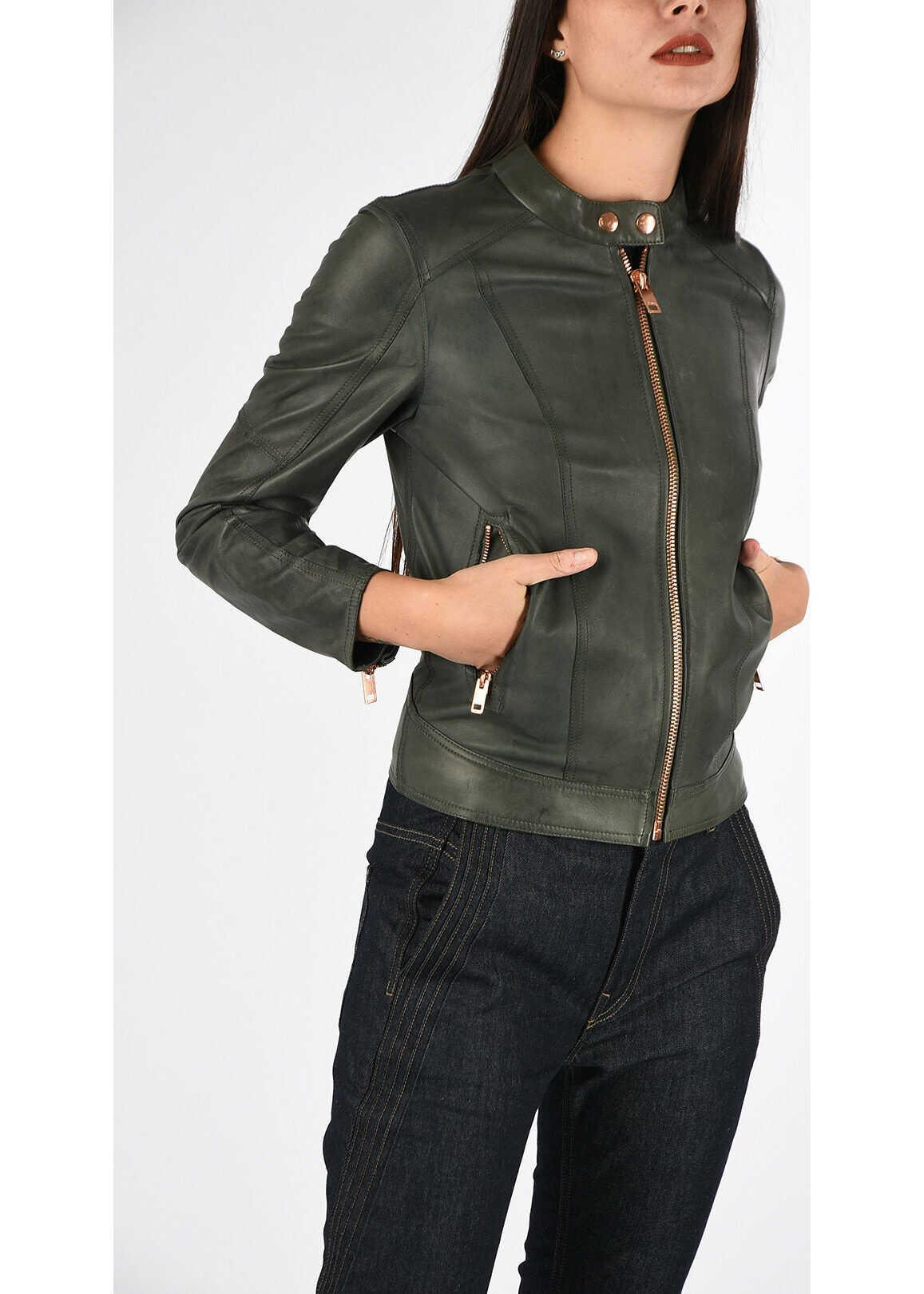 Diesel Leather L-LORY-C Jacket GREEN