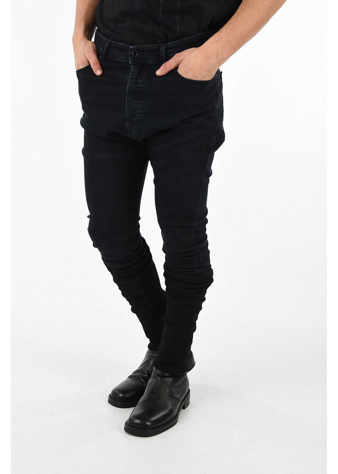 Diesel BLACK GOLD Knitted Ankle TYPE-2840 Jeans BLUE imagine