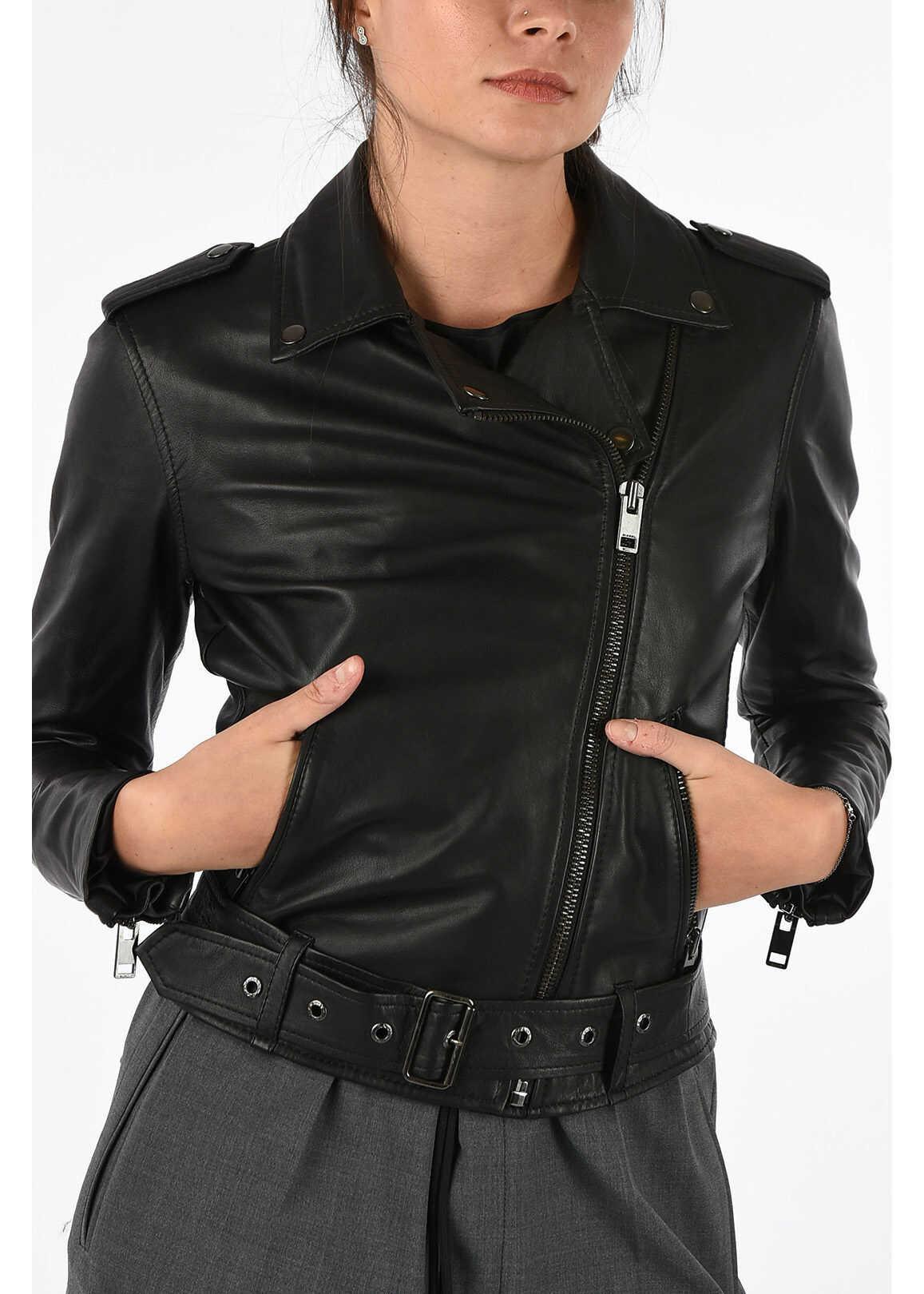 Diesel Leather L-LUPUS-G Jacket BLACK