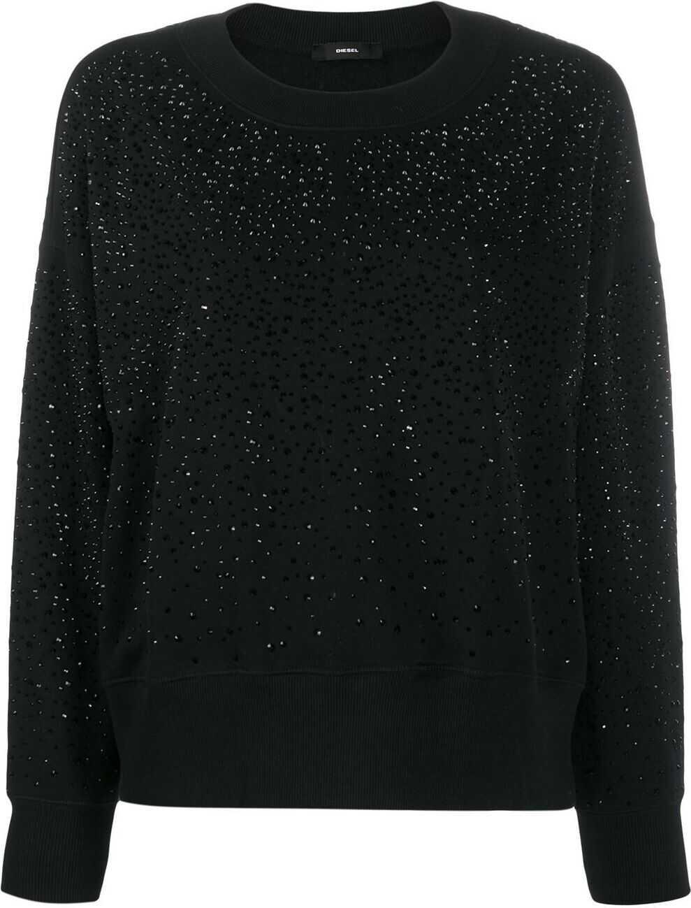 Diesel Cotton Sweater BLACK