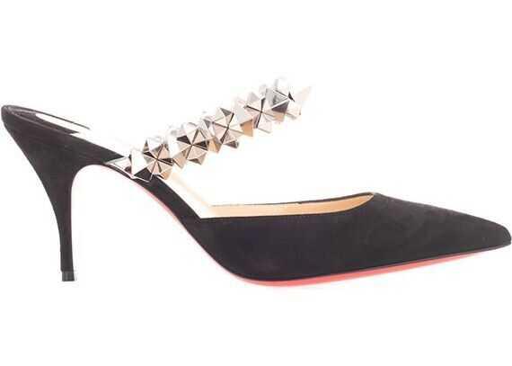Christian Louboutin Velvet Heels BLACK
