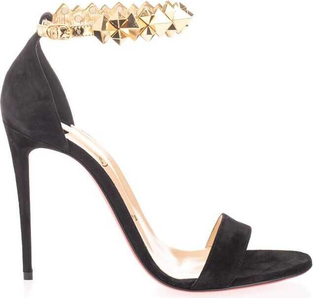 Christian Louboutin Velvet Sandals BLACK