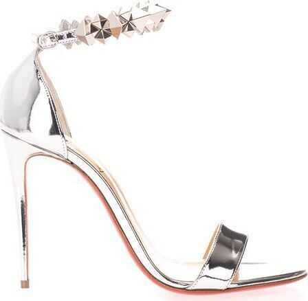 Christian Louboutin Leather Sandals SILVER
