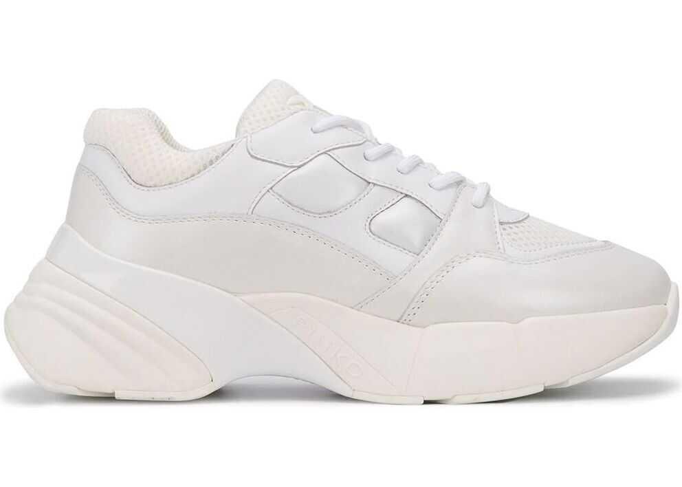 Pinko Synthetic Fibers Sneakers WHITE