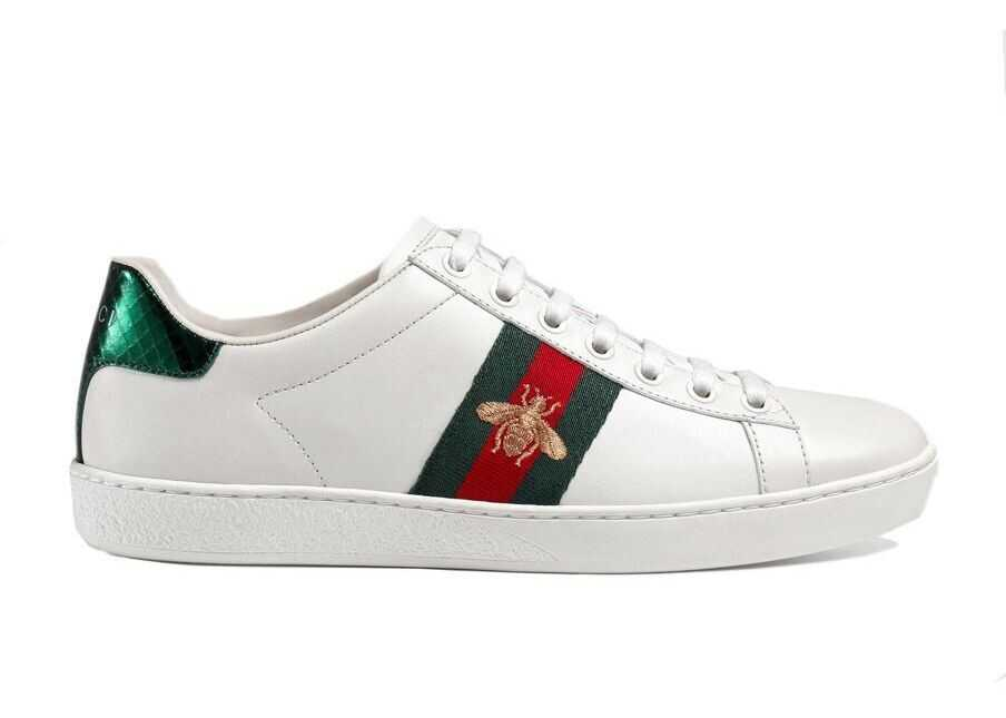 Gucci 431942A38G09064 Leather Sneakers WHITE