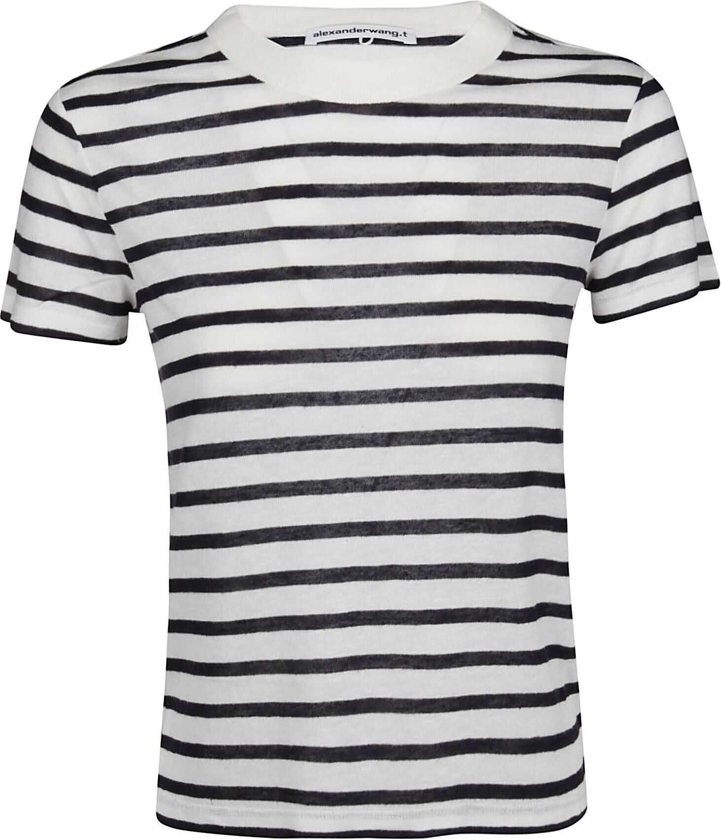 Alexander Wang Viscose T-Shirt WHITE