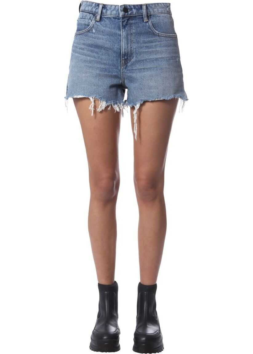 Alexander Wang Cotton Shorts BLUE