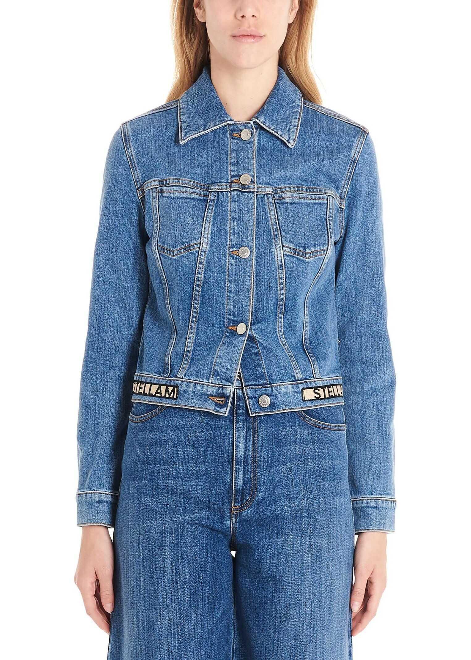 adidas by Stella McCartney Cotton Jacket BLUE