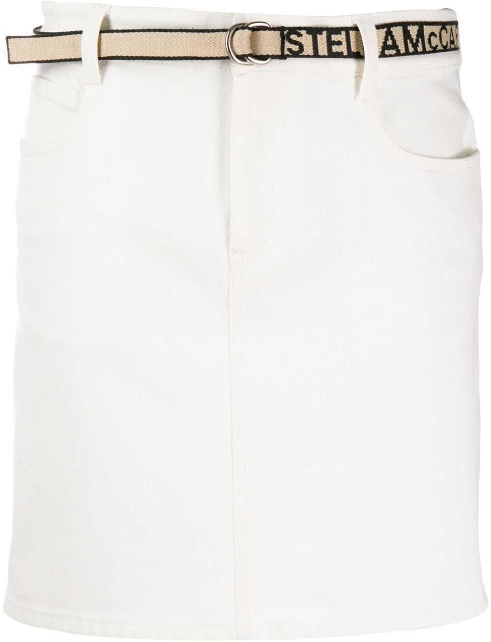 adidas by Stella McCartney Cotton Skirt WHITE