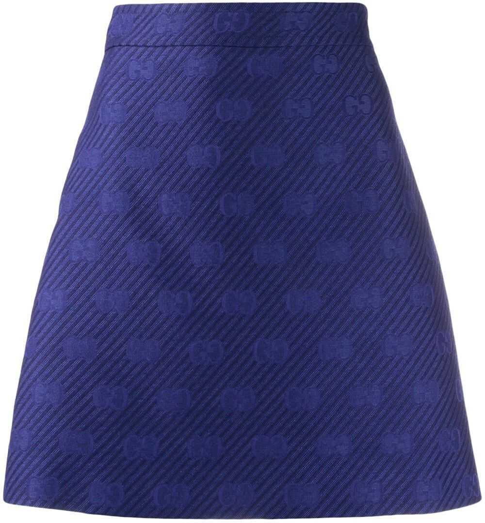 Gucci Wool Skirt BLUE