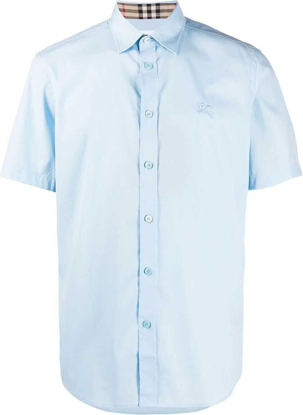 Burberry Cotton Shirt LIGHT BLUE