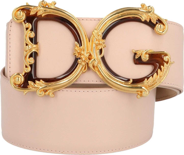 Dolce & Gabbana Leather Belt PINK