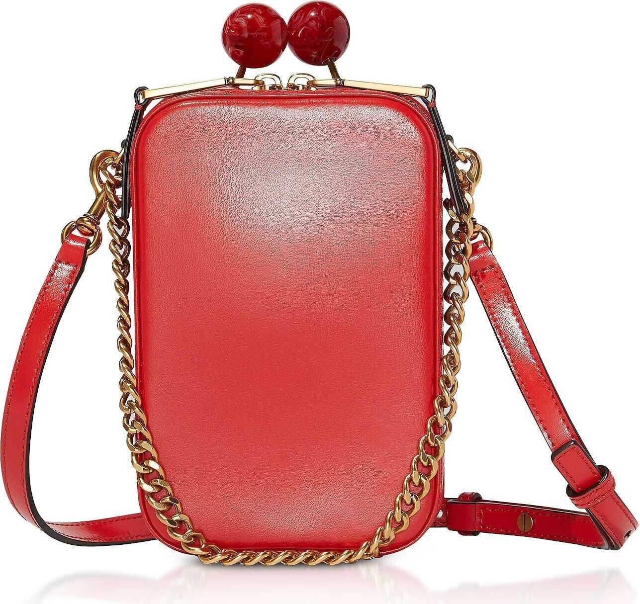 Marc Jacobs Leather Shoulder Bag RED