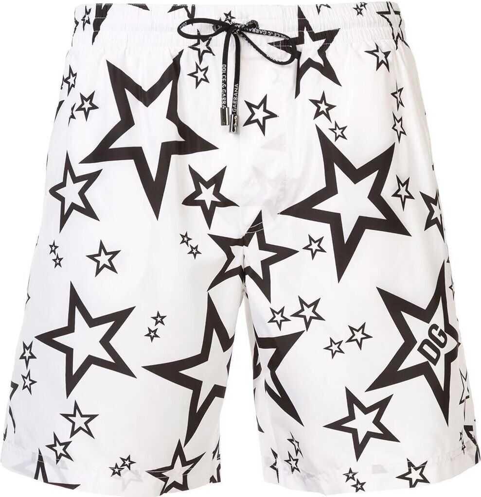 Dolce & Gabbana Polyester Trunks WHITE