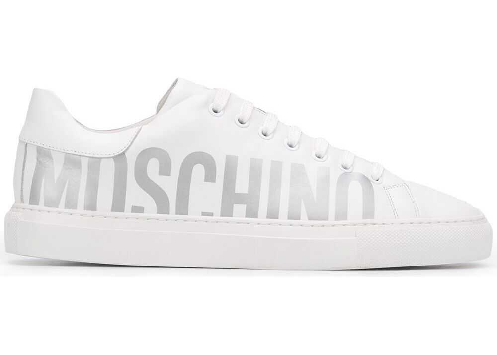 Moschino Leather Sneakers WHITE