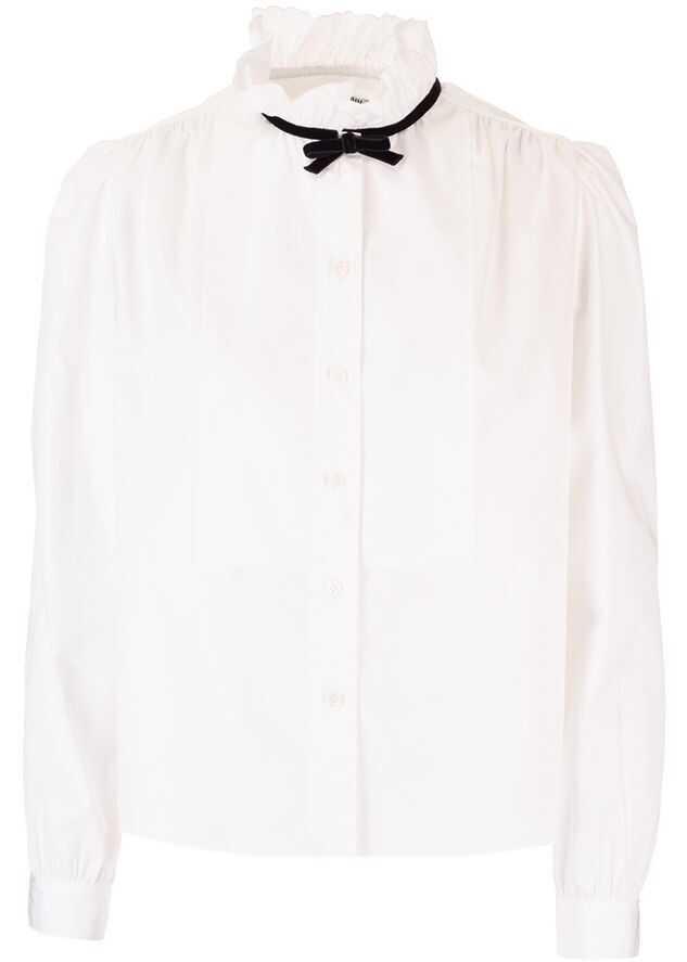 Miu Miu Cotton Blouse WHITE