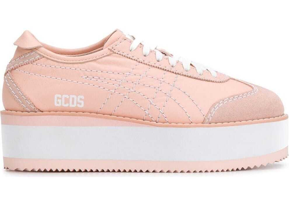 GCDS Leather Sneakers PINK