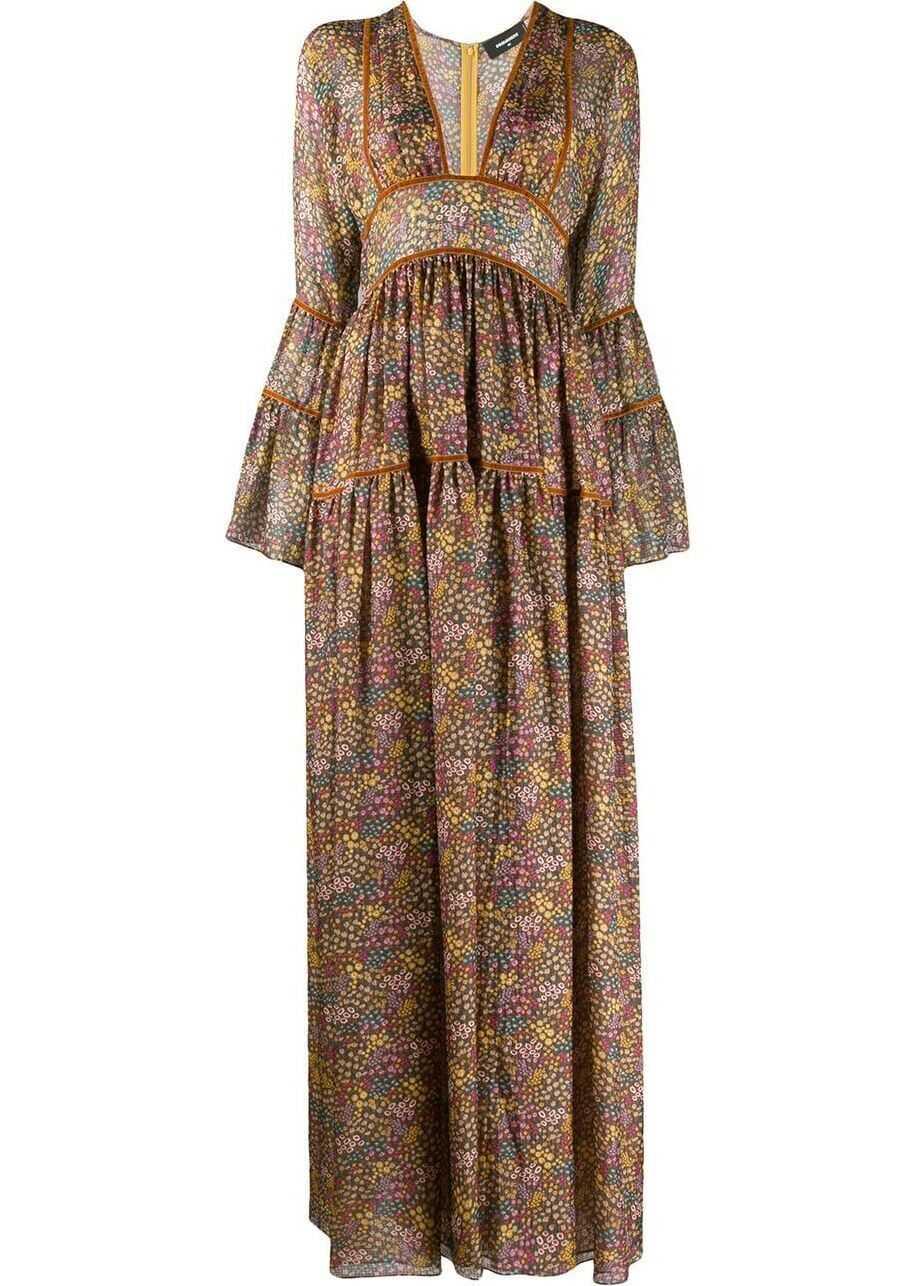DSQUARED2 Silk Dress MULTICOLOR